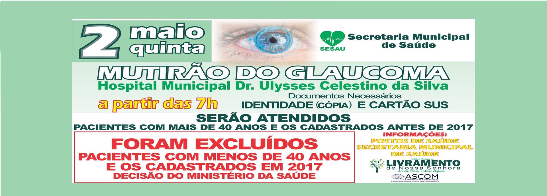 Mutirão do Glaucoma  dia 2 de Maio