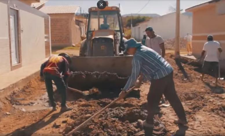 Inicio das obras de pavimentação da ladeira do bomfim e santa terezinha