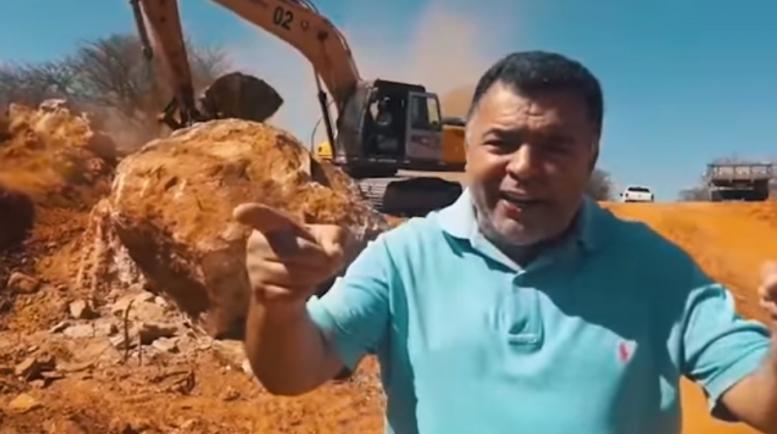 Reforma da estrada da serra que liga Cruz de Almas ao Laranjo