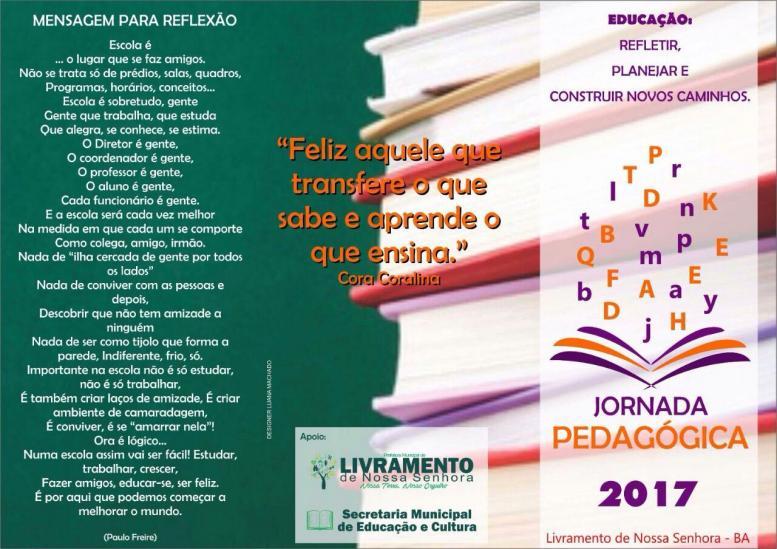 Jornada Pedagógica começa nesta segunda-feira (20).