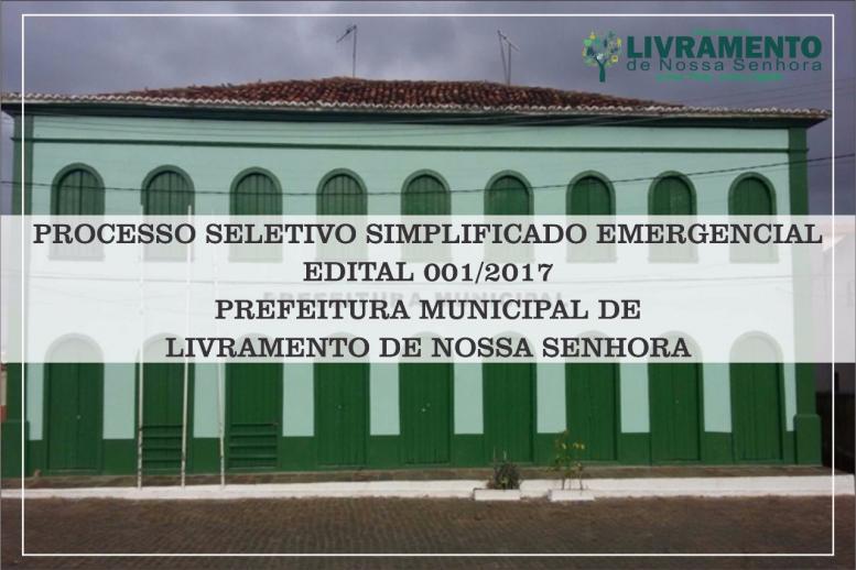 PROCESSO SIMPLIFICADO EMERGENCIAL 2017:- FICHA DE INSCRIÇÃO