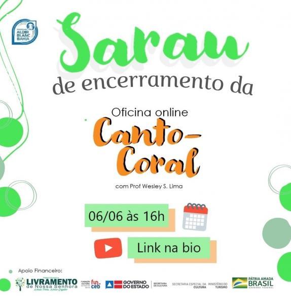 CONTEMPLADO COM A LEI ALDIR BLANC REALIZARÁ LIVE NO CANAL DO YOU TUBE