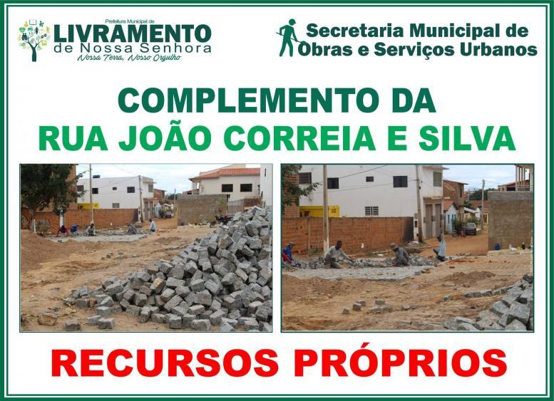 Complemento da rua João Correia e Silva