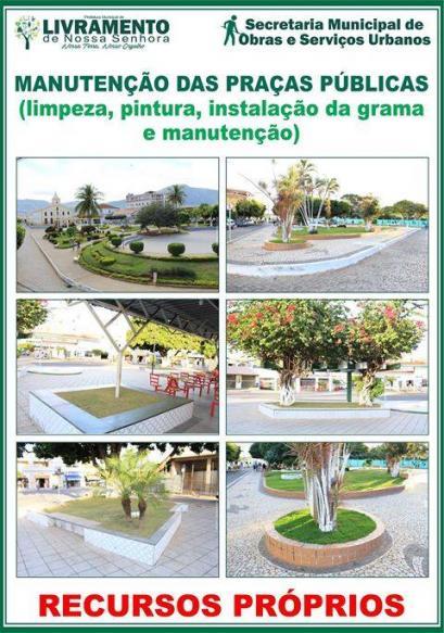 Manutenção das Praças Públicas