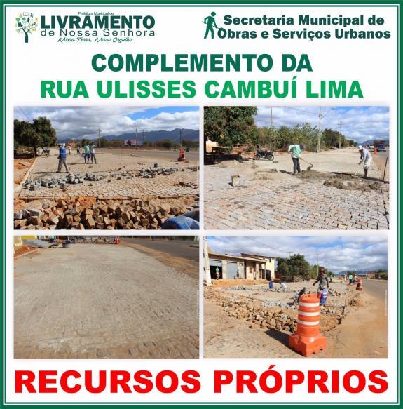 Complemento da rua Ulisses Cambuí Lima